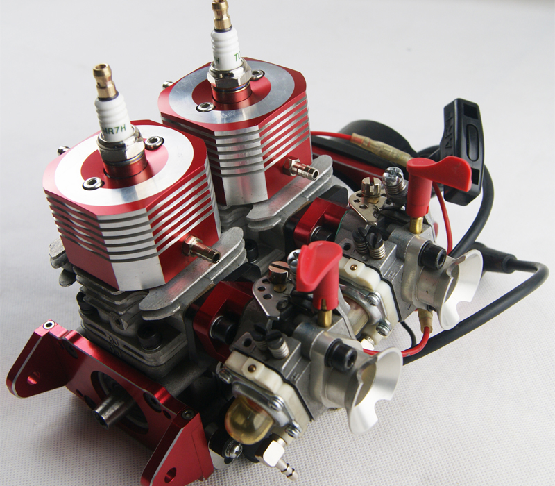 Rtr modified 58cc inline twin marine gas engine for racing for Gas rc boat motors